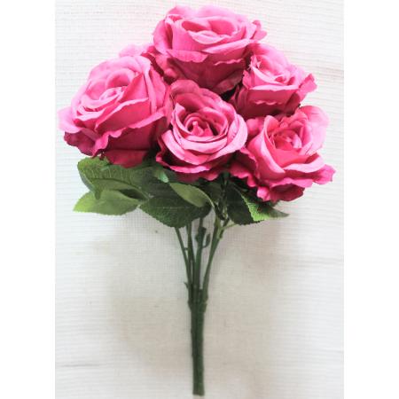 Букет натуральных роз из 7 голов