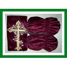 Обивка наружная бархат с крестом
