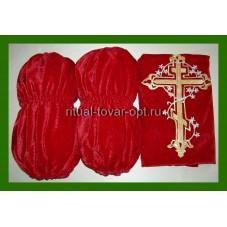 Обивка на  гроба  наружная с крестом