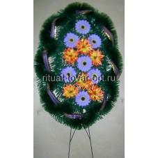 Венок «Овал со смешанными цветами»